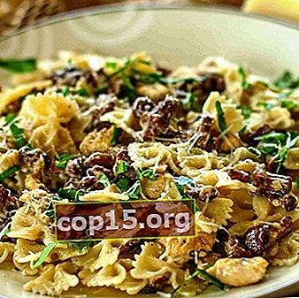 Pasta con champiñones: recetas de cocina.