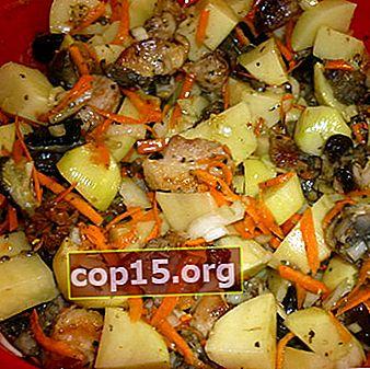 Asado con champiñones y patatas: recetas con fotos.