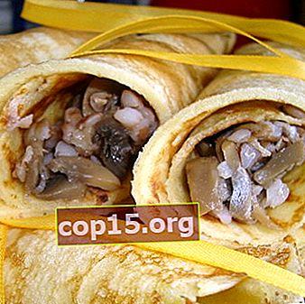 Tartas, tortitas y albóndigas rellenas de patatas champiñones