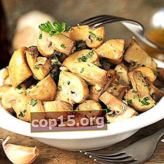 Funghi piccanti con aglio