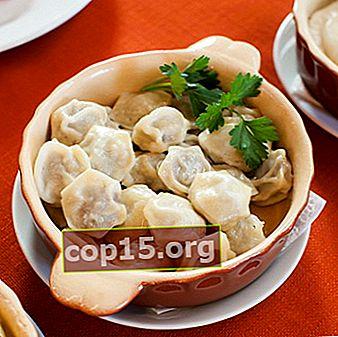 Dumplings och dumplings med svamp