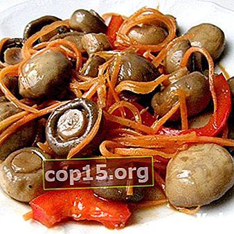 Funghi piccanti marinati alla coreana