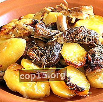 Champignons à la viande et pommes de terre: recettes maison