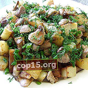 Aardappelrecepten met bevroren champignons
