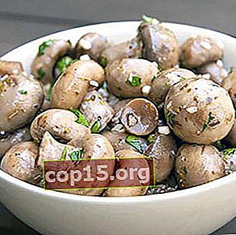 Champignons zouten: gedetailleerde recepten