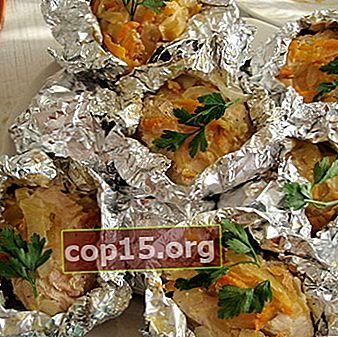 Vlees met champignons gebakken in folie: recepten voor heerlijke gerechten