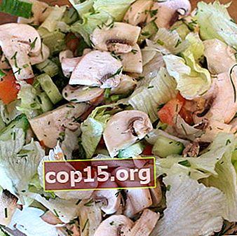 Salades met rauwe champignons: recepten voor gezonde gerechten