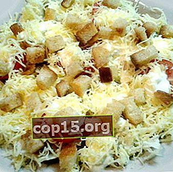 Cum să gătești salate cu crutoane și ciuperci