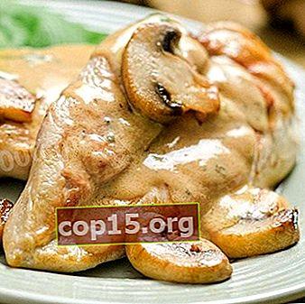 Kipfilet met champignons: recepten voor het bereiden van heerlijke gerechten