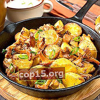 Ovengebakken cantharellen met aardappelen