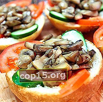 Snelle sandwiches met champignons