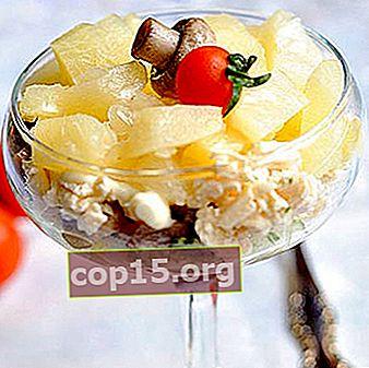 Insalate con funghi prataioli e ananas: ricette originali