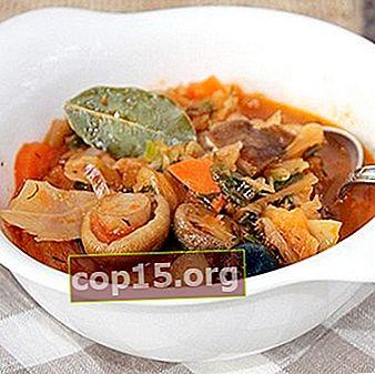 Delizioso miscuglio di verdure con funghi