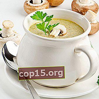 Ricette per la zuppa di funghi porcini freschi (con foto e video)