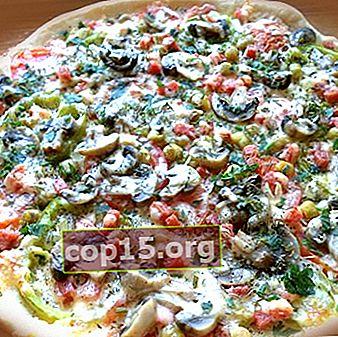 Pizza piccante con funghi salati