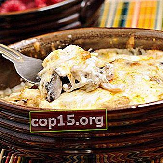 Julienne con funghi e formaggio al forno e in padella