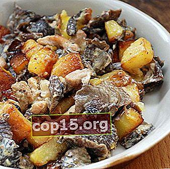 Come cucinare le patate con carne e funghi