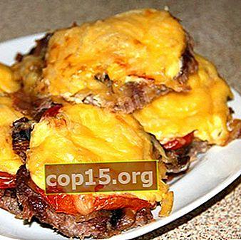 Patatine fritte con funghi al forno e pentola a cottura lenta