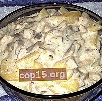 Patate con miele di agarichi, cotte al forno