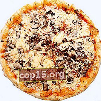 Deliziosa pizza con funghi: opzioni di cottura