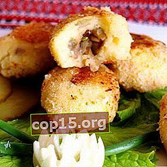 Zrazy di patate magre con funghi: ricette passo passo con foto