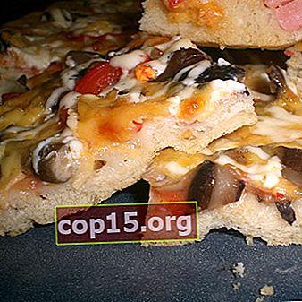 Pizza de champiñones con agáricos de miel