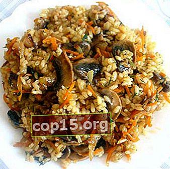 Pilaf con funghi: ricette di funghi con riso