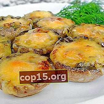 Champignonschotel met kip en kaas